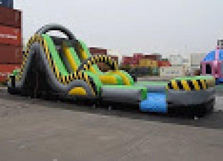 19hazard 823234027 big 19 Ft Dual Lane Hazard Rush n Slide