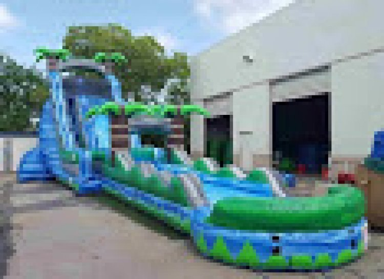 2720ft20with20slip 6690418 big 27 Ft Blue Crush with Slip n Slide