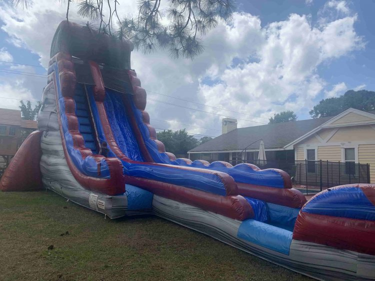 27 Ft Lava Splash Slide